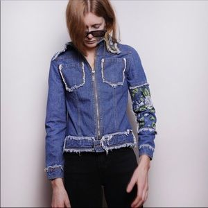 Marc Jacobs Embroidered Jean Jacket